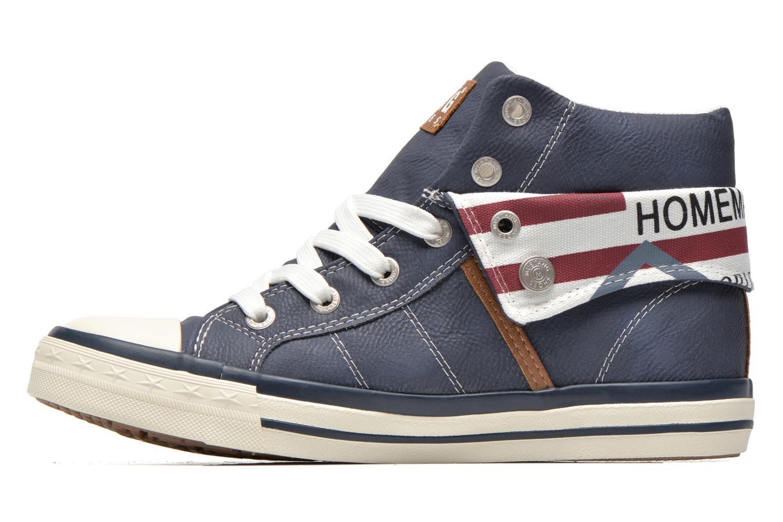 Sneakers Mustang shoes Mathys Blauw voorkant