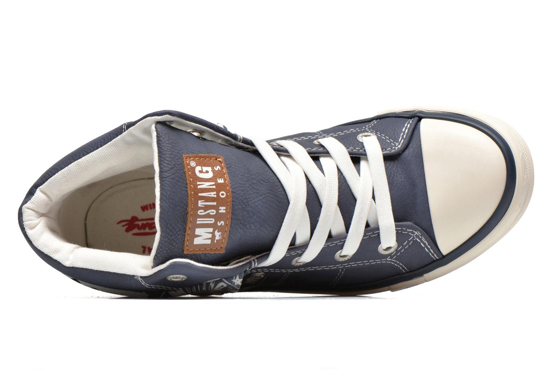 Baskets Mustang shoes Mathys Bleu vue gauche