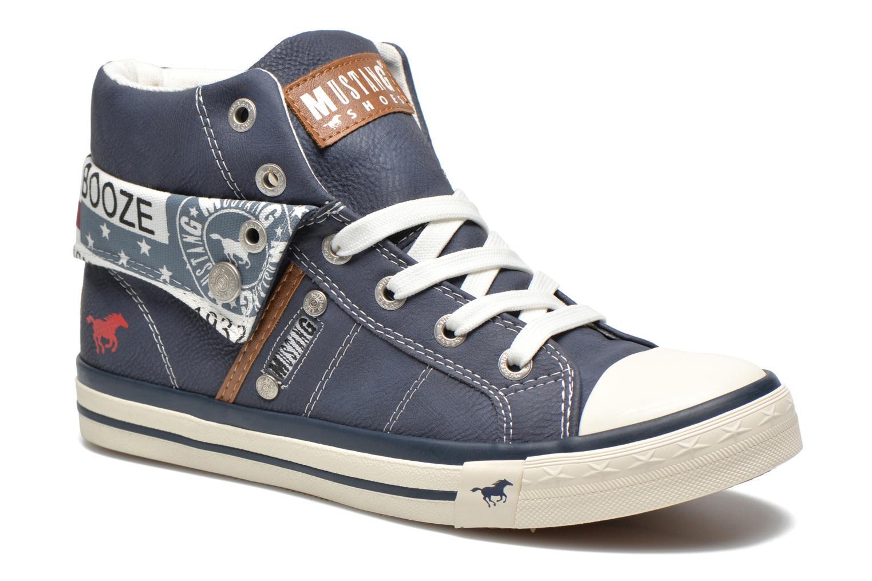 Baskets Mustang shoes Mathys Bleu vue détail/paire