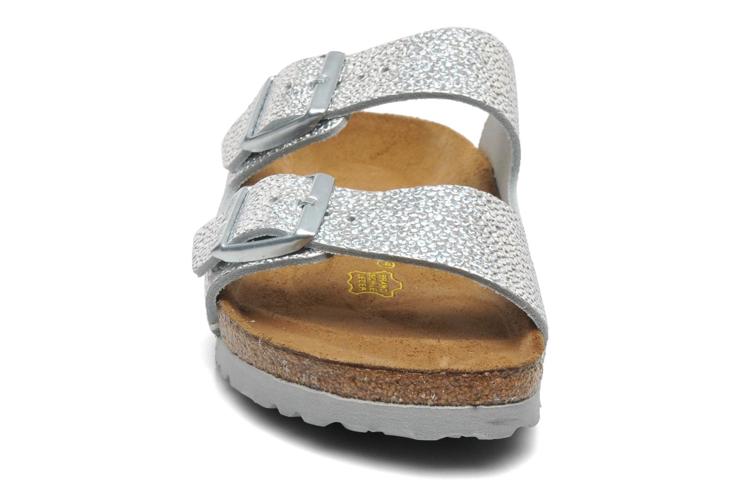 Arizona Cuir W Pebbles Metallic Silver