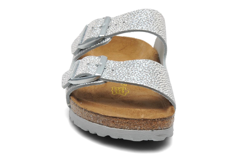 Mules et sabots Birkenstock Arizona Cuir W Argent vue portées chaussures