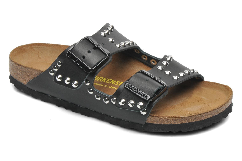 Clogs & Pantoletten Birkenstock Arizona Cuir W schwarz detaillierte ansicht/modell