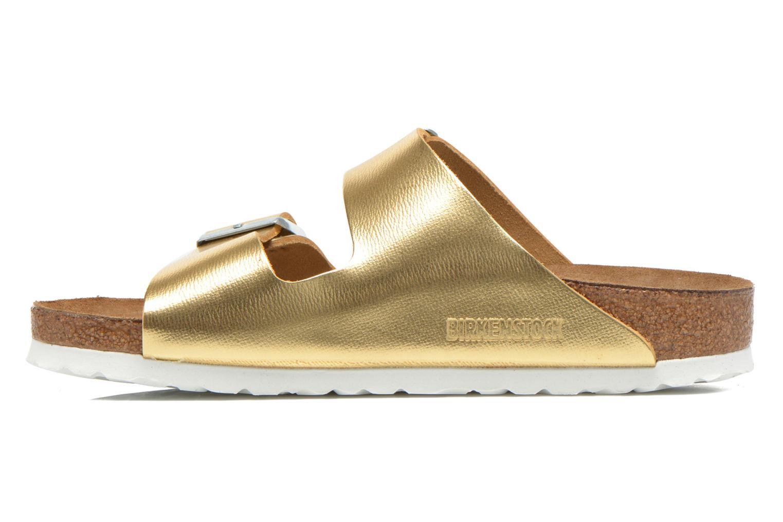 Clogs & Pantoletten Birkenstock Arizona Cuir W gold/bronze ansicht von vorne