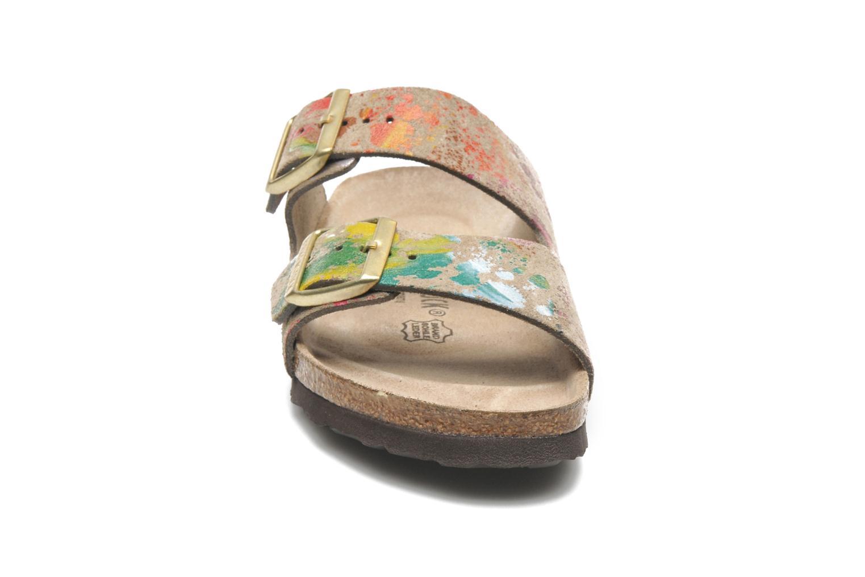Mules et sabots Birkenstock Arizona Velours W Multicolore vue portées chaussures