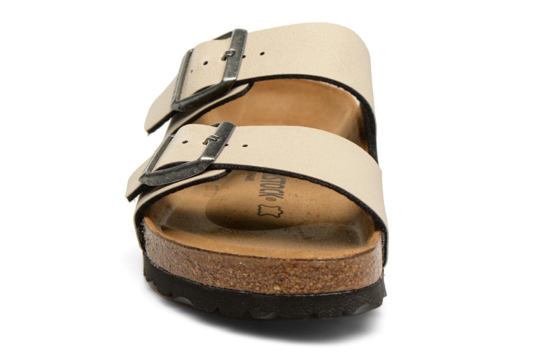 Mules et sabots Birkenstock Arizona Flor W Gris vue portées chaussures