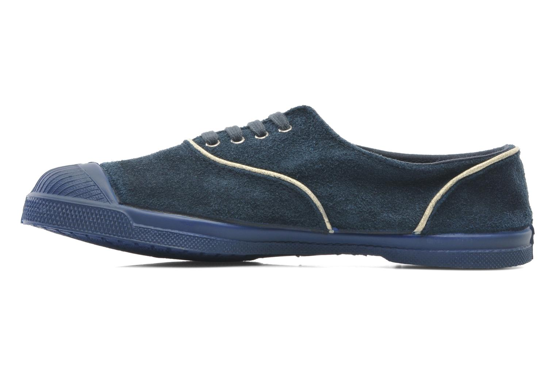 Tennis Lacets Suedpiping Bleu grisé