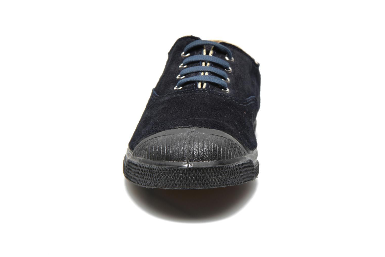 Sneaker Bensimon Tennis Lacets Suedpiping blau schuhe getragen