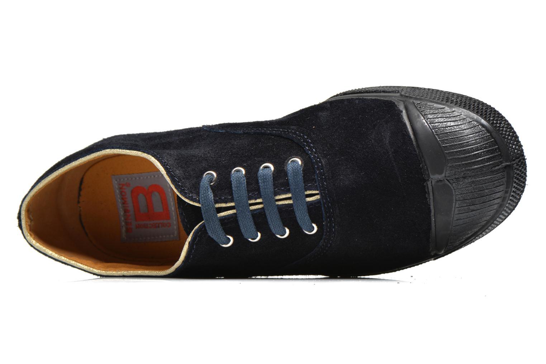 Sneaker Bensimon Tennis Lacets Suedpiping blau ansicht von links
