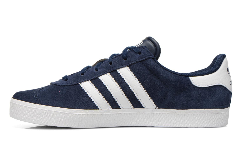 Baskets Adidas Originals Gazelle 2 J Bleu vue face