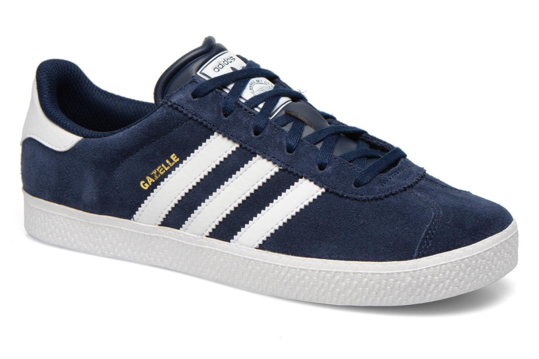 Baskets Adidas Originals Gazelle 2 J Bleu vue détail/paire
