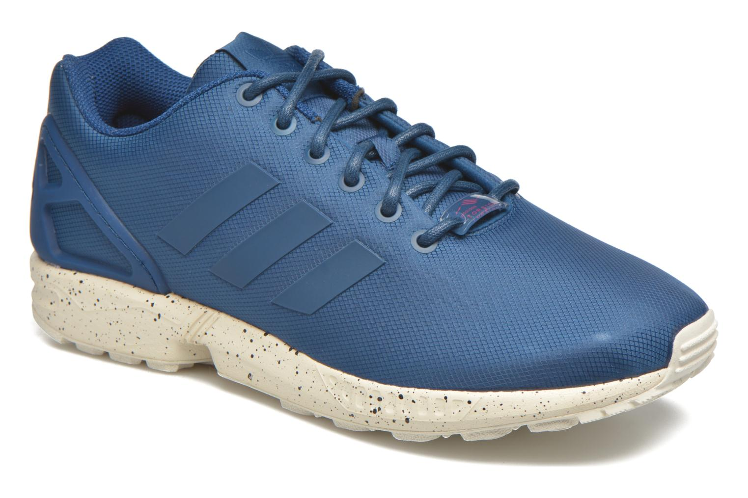 Trainers Adidas Originals Zx Flux Blue detailed view/ Pair view