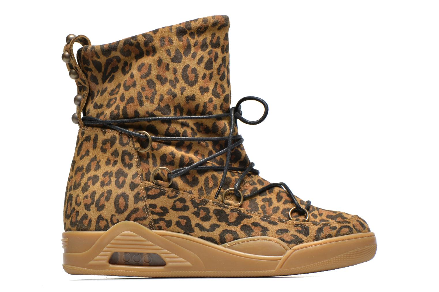 Moon Natural Leopard Suede