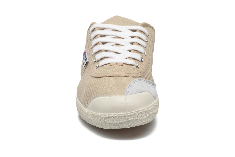 Baskets Kawasaki Basic Beige vue portées chaussures