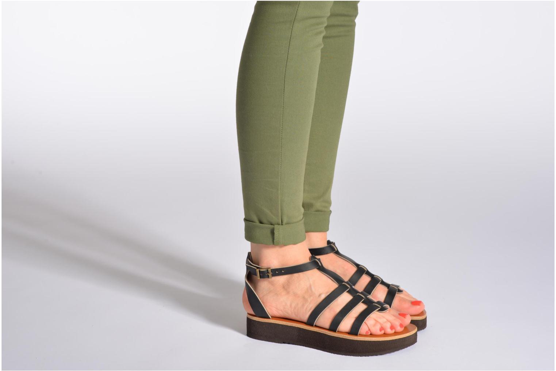 Sandales et nu-pieds Sandales de Thaddée Cesare 3 Bordeaux vue bas / vue portée sac
