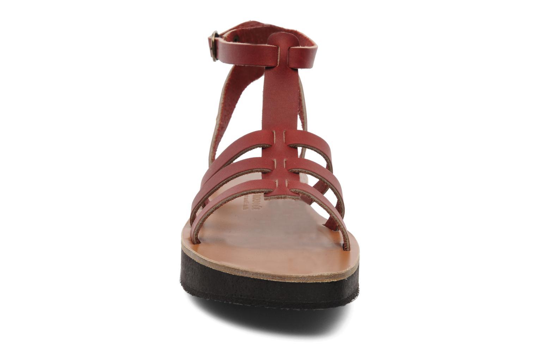 Sandales et nu-pieds Sandales de Thaddée Cesare 3 Bordeaux vue portées chaussures