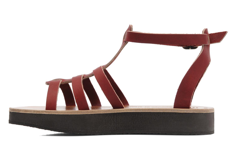 Sandales et nu-pieds Sandales de Thaddée Cesare 3 Bordeaux vue face
