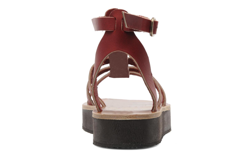 Sandales et nu-pieds Sandales de Thaddée Cesare 3 Bordeaux vue droite