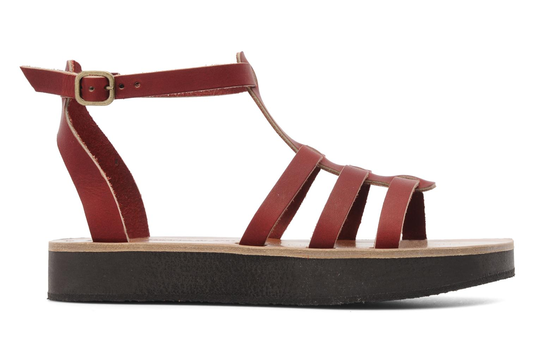 Sandales et nu-pieds Sandales de Thaddée Cesare 3 Bordeaux vue derrière