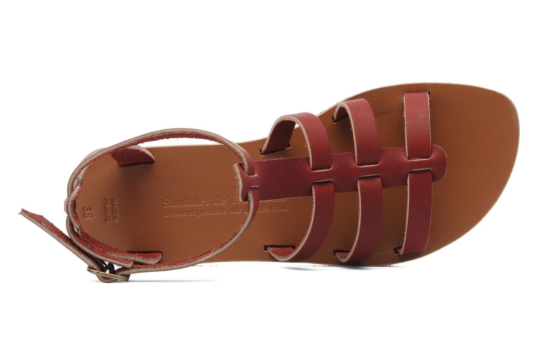 Sandales et nu-pieds Sandales de Thaddée Cesare 3 Bordeaux vue gauche