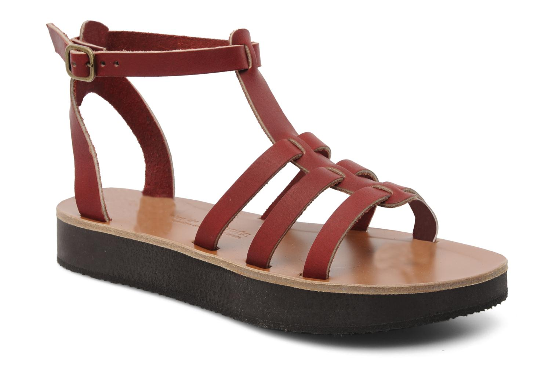 Sandales et nu-pieds Sandales de Thaddée Cesare 3 Bordeaux vue détail/paire