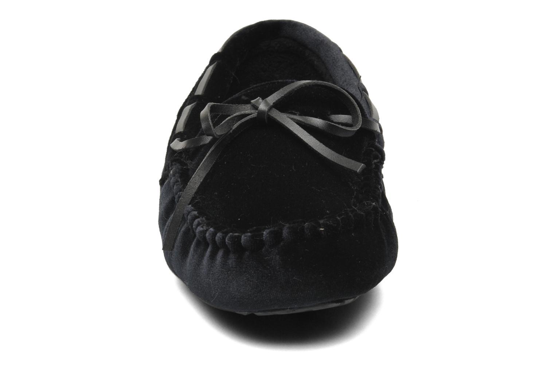 Pantuflas Ruby Brown Marlène Negro vista del modelo