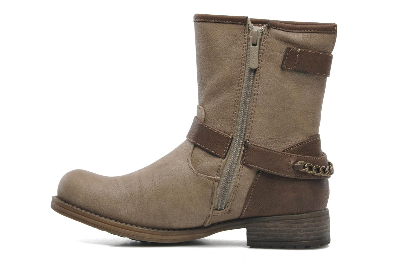 Ankle boots Mustang shoes Maki Beige front view
