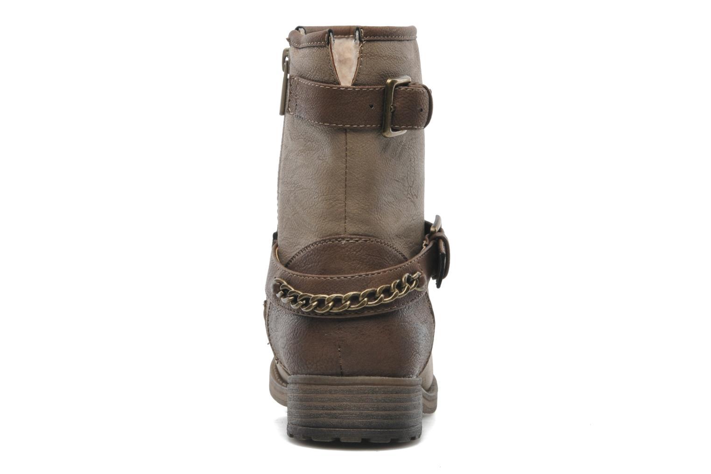 Bottines et boots Mustang shoes Maki Beige vue droite