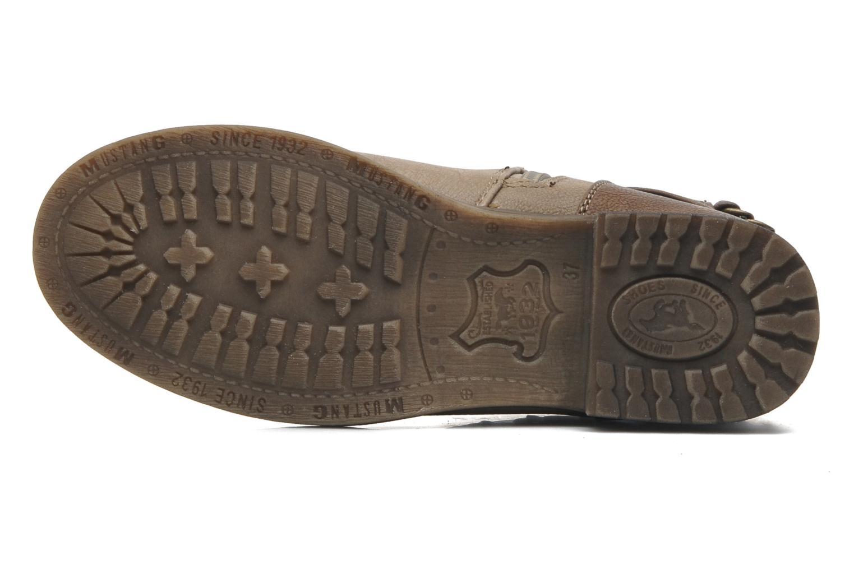Bottines et boots Mustang shoes Maki Beige vue haut