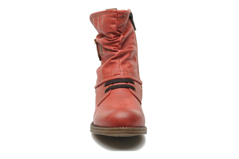 Bottines et boots Mustang shoes Masya Rouge vue portées chaussures