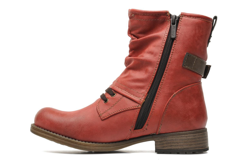 Bottines et boots Mustang shoes Masya Rouge vue face