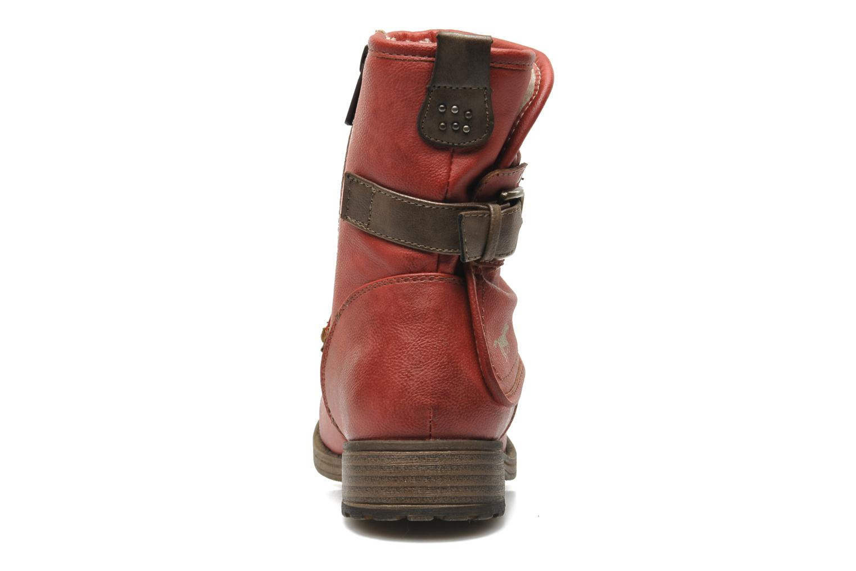 Bottines et boots Mustang shoes Masya Rouge vue droite