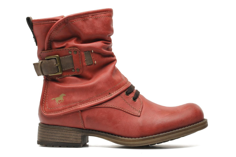 Boots en enkellaarsjes Mustang shoes Masya Rood achterkant