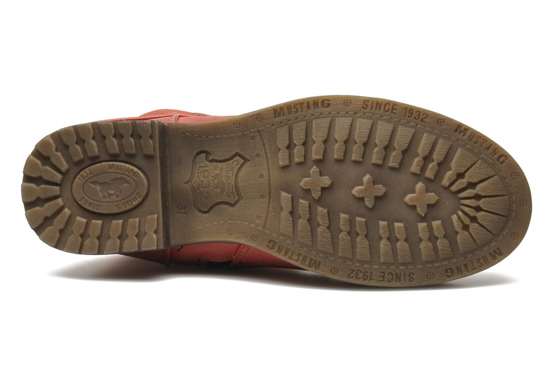 Bottines et boots Mustang shoes Masya Rouge vue haut