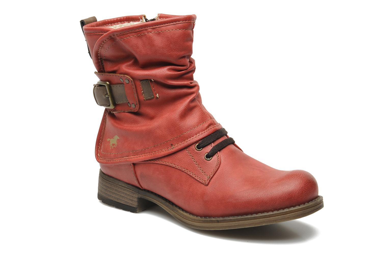 Bottines et boots Mustang shoes Masya Rouge vue détail/paire