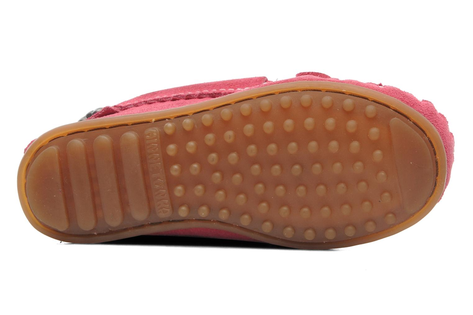 Loafers Minnetonka Hello Kitty Moc Pink view from above