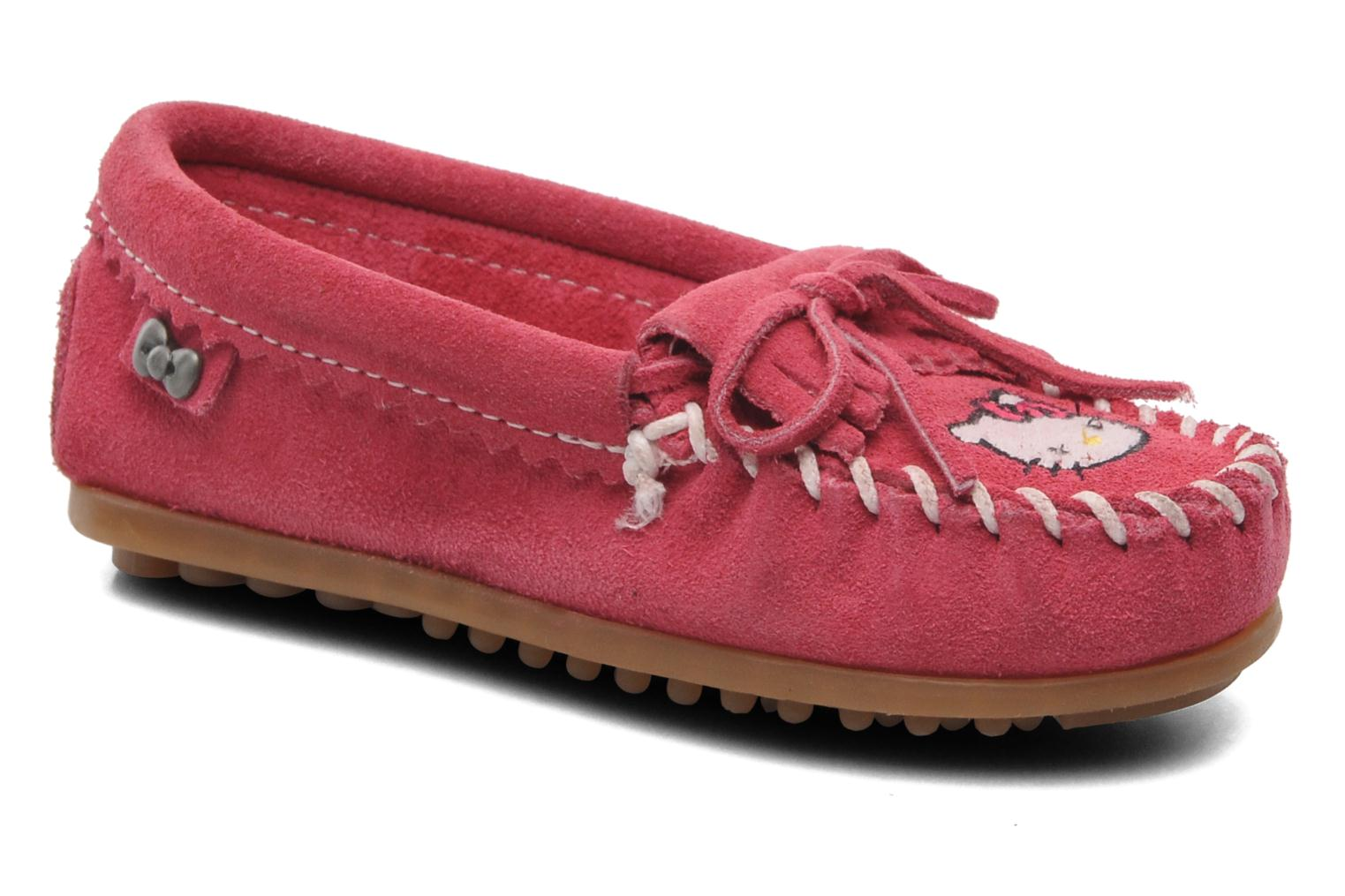 Loafers Minnetonka Hello Kitty Moc Pink detailed view/ Pair view