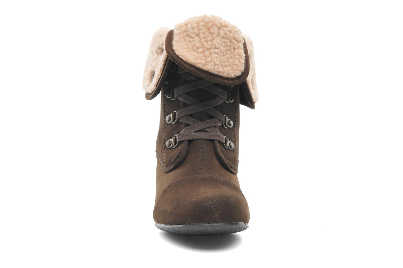 Bottines et boots Blowfish Buster shearling Marron vue portées chaussures