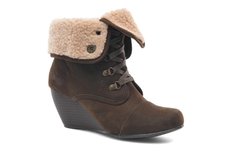 Bottines et boots Blowfish Buster shearling Marron vue détail/paire