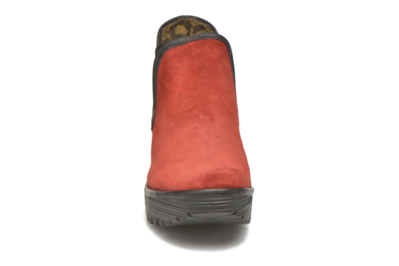 Bottines et boots Fly London Yat Rouge vue portées chaussures