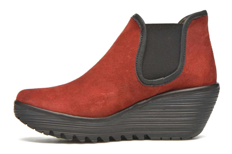 Bottines et boots Fly London Yat Rouge vue face