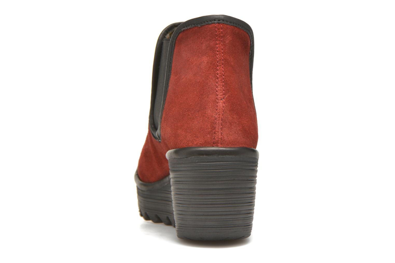 Bottines et boots Fly London Yat Rouge vue droite