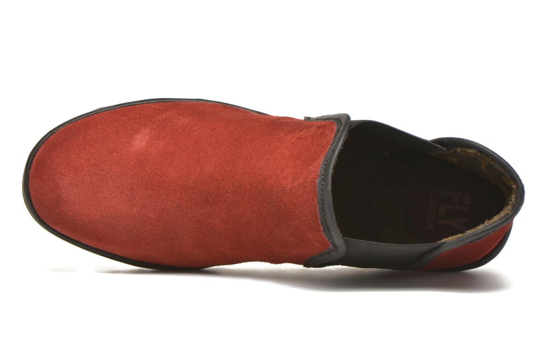 Bottines et boots Fly London Yat Rouge vue gauche