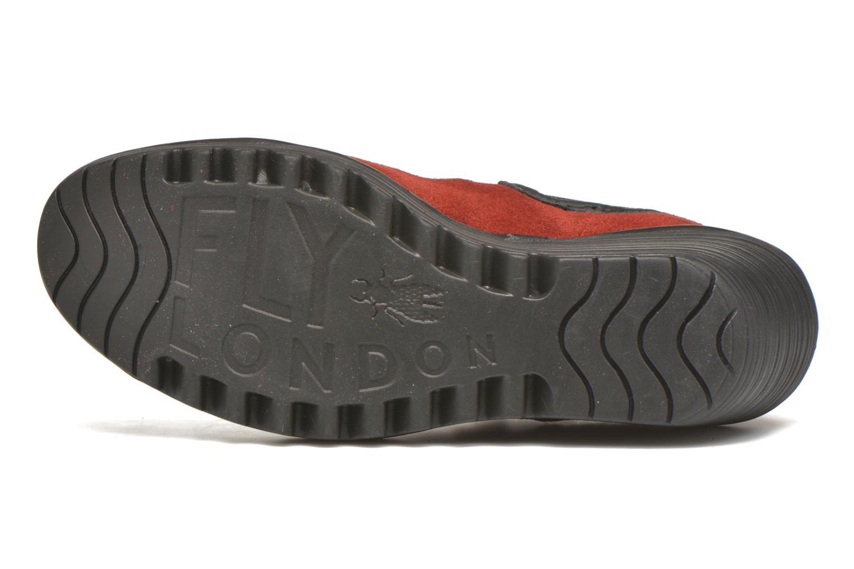 Bottines et boots Fly London Yat Rouge vue haut