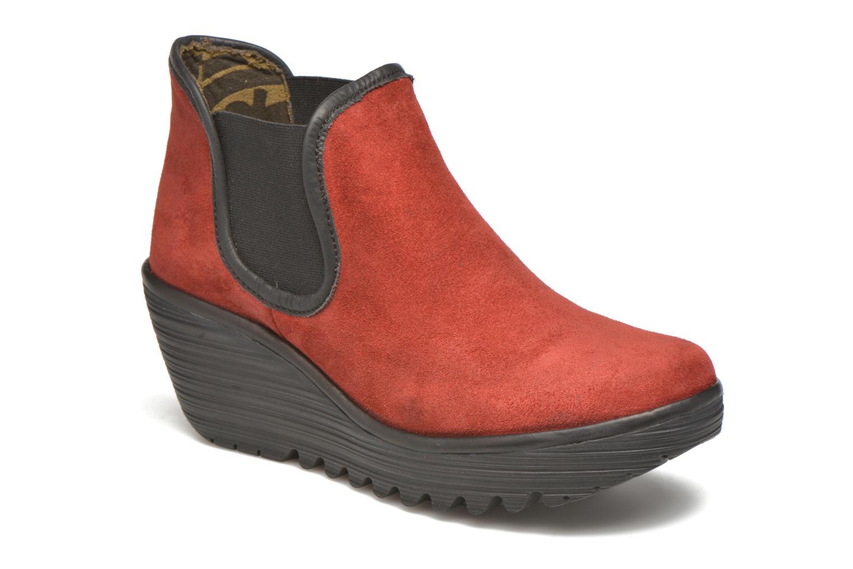 Bottines et boots Fly London Yat Rouge vue détail/paire