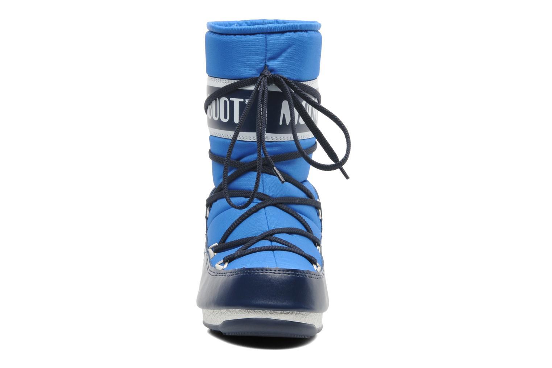 Sportschuhe Moon Boot Sport Mid blau schuhe getragen