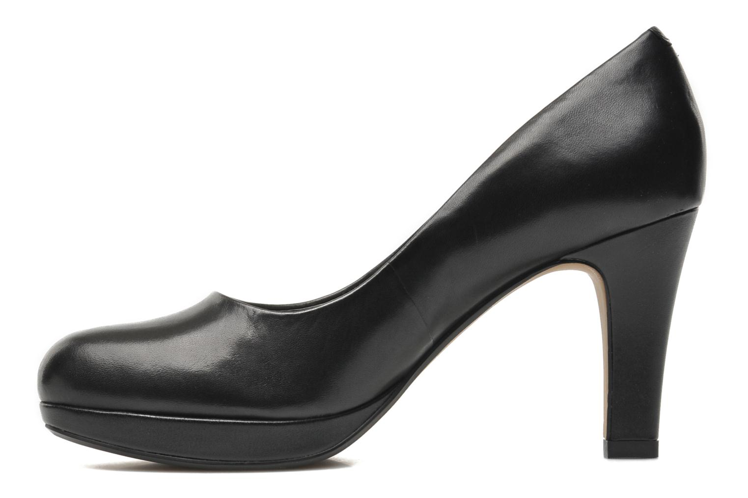 High heels Clarks Crisp Kendra Black front view