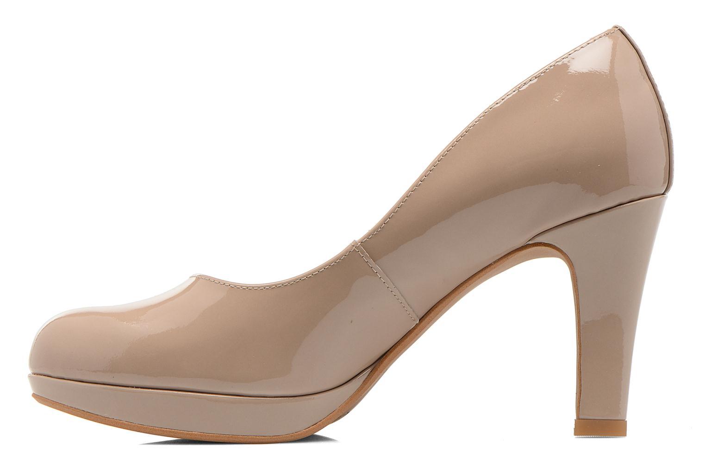 High heels Clarks Crisp Kendra Beige front view