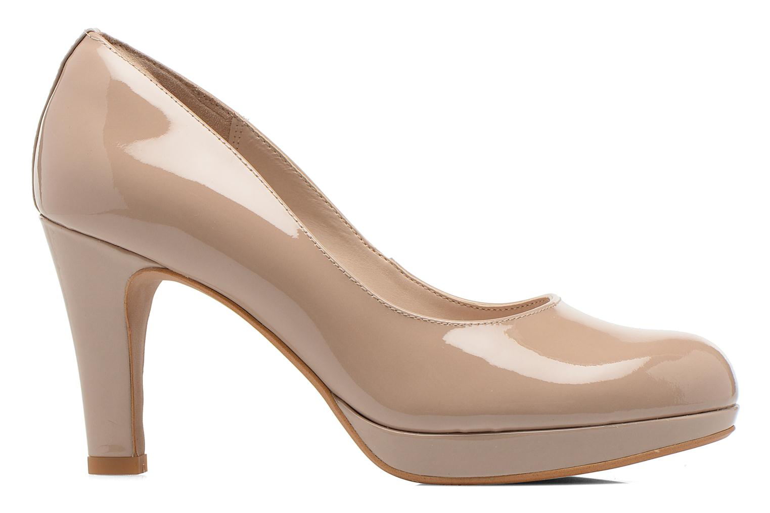 High heels Clarks Crisp Kendra Beige back view