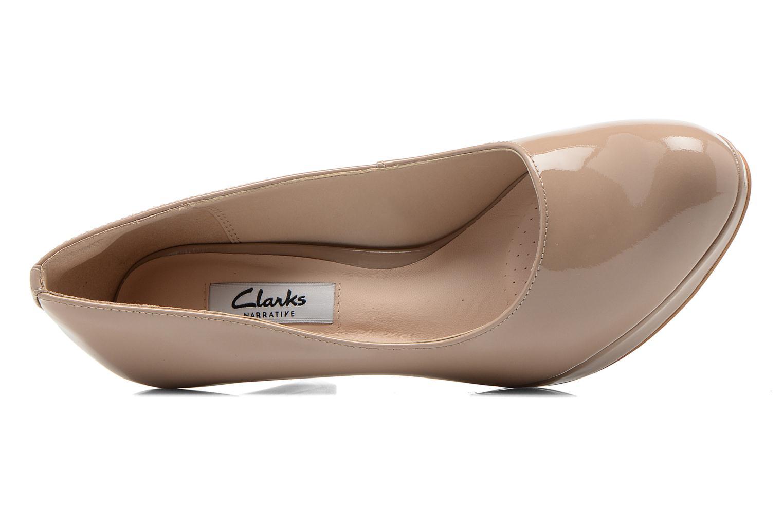 High heels Clarks Crisp Kendra Beige view from the left
