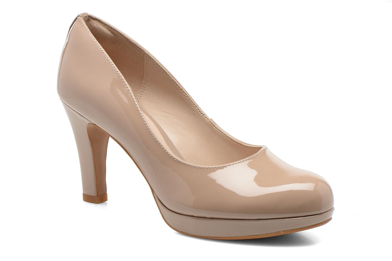 High heels Clarks Crisp Kendra Beige detailed view/ Pair view